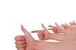 Hände zählen eins zwei drei vier fünf