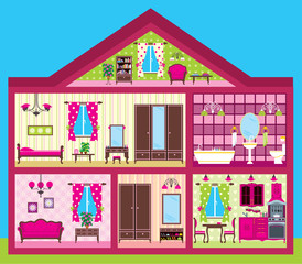 House for the girl in a cut