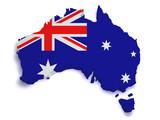 Australia Map 3d Shape