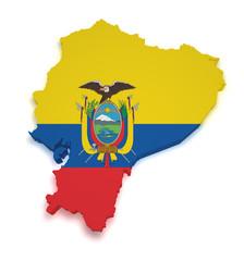 Ecuador Map 3d Shape
