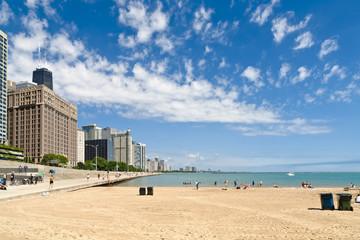 Beach of Chicago - Michigan Lake