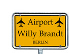 Sign - Airport Willy Brandt