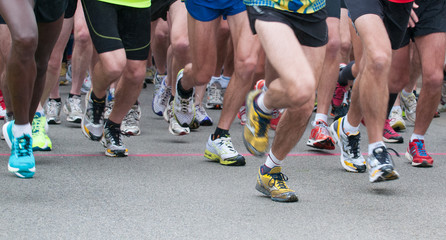 runner legs  at starting