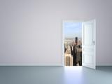 Fototapety door to new york