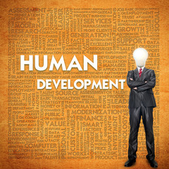Word cloud for business concept,human development