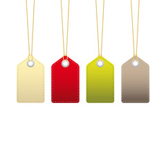 Colourful hanging sales tags