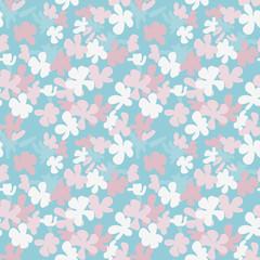 Stylized flowers seamless pattern