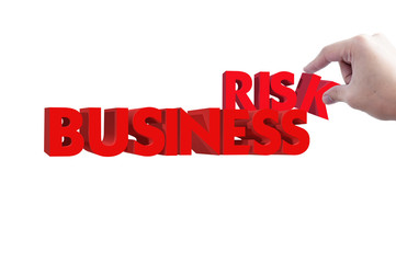 Business risk 3d render text