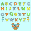 Cute childish alphabet set
