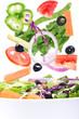 fresh vegetables falling