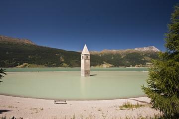 Lago di Resia, il campanile nel lago