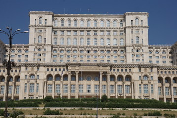 central part of the  Palace of the Parliament , Bucharest