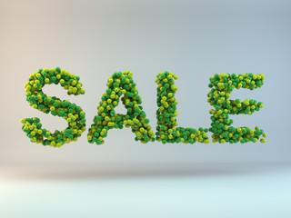 Sale - green and yellow marbles