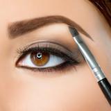 Make-up. Eyebrow Makeup. Brown Eyes poster