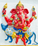 God of success 13 of 32 posture. Indian or Hindu God Ganesha ava