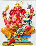 God of success 19 of 32 posture. Indian or Hindu God Ganesha ava