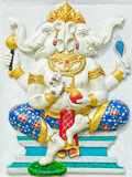 God of success 28 of 32 posture. Indian or Hindu God Ganesha ava