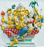 God of success 30 of 32 posture. Indian or Hindu God Ganesha ava