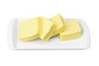 Slices of Butter on Plate
