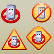 various turn off hand phone icon