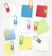 Color paper sheets clip-art