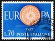 Postage stamp Italy 1960 19-Spoke wheel