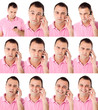Male expressions on the phone