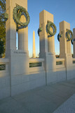 Wreaths at the U.S. World War II Memorial ,Washington D.C. and the National Monument