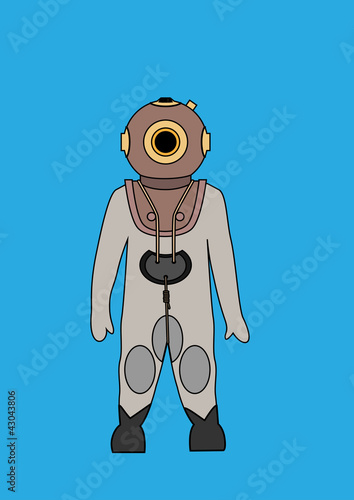 Deep Sea Diver Bitmap Background