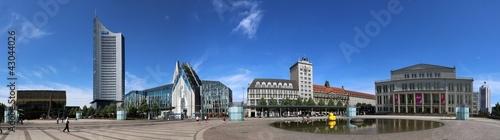 Leinwandbild Motiv Leipzig City-Panorama