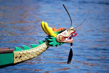 Bug eines Drachenbootes