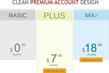 Premium account design