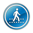 "Glossy Button ""Pedestrian Crossing"""