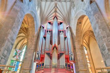 Church organ in St Giles Cathedral, Edinburgh, Scotland