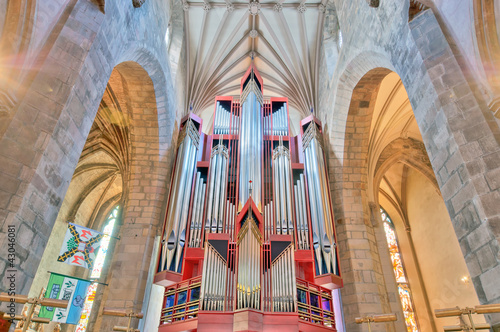 Church organ in St Giles Cathedral, Edinburgh, Scotland