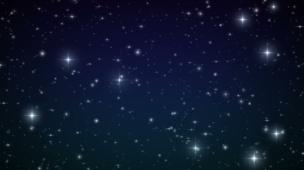 Stars in the sky. Looped animation. HD 1080.