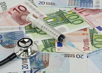 Symbol of euro crash