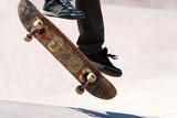 Skateboarder Jumping Tricks