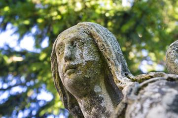 Angel statue color image