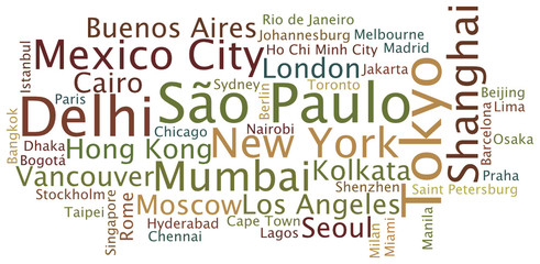 Tag Cloud Cities