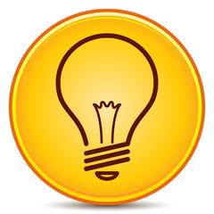 Vector Light Bulb Icon Matte Button. EPS10.