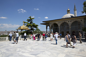 Upper terrace and Baghdad Kiosk, Topkapi Palace, Istanbul, Turke