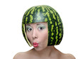 Woman with water-melon
