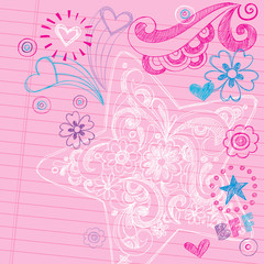 Star Sketchy Notebook Doodles Vector Design Elements