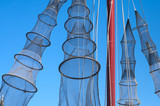 fishing nets hanging to dry