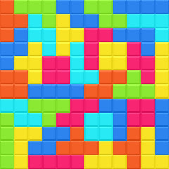 Multicolored blocks seamless pattern. Vector illustration.