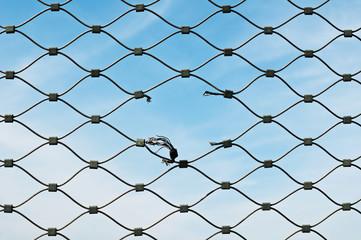 squarcio in rete metallica