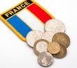 french flag and coins
