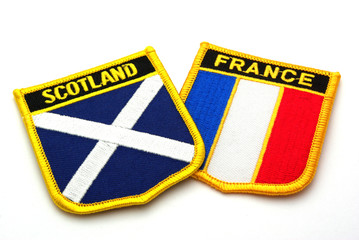 scotland and france flags