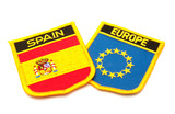 spain and europe flags